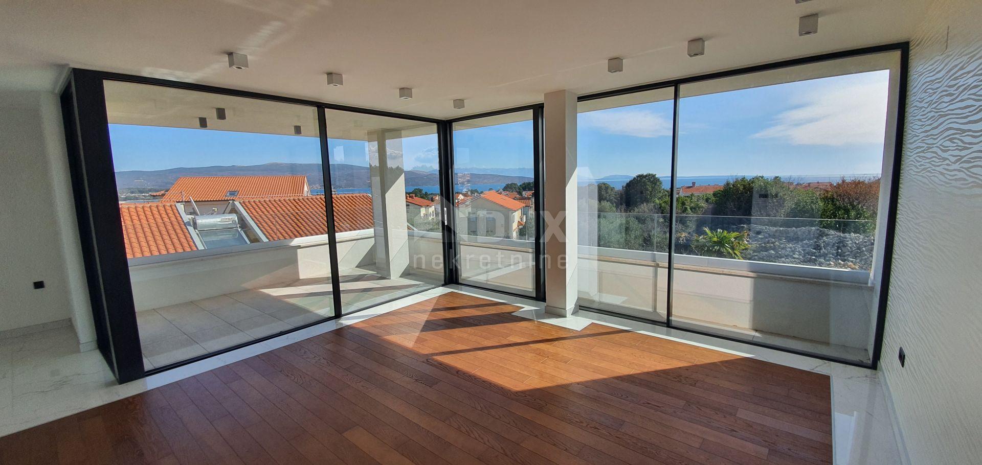KRK - 2S+DB, 60 m2, novogradnja, otvoren pogled na more