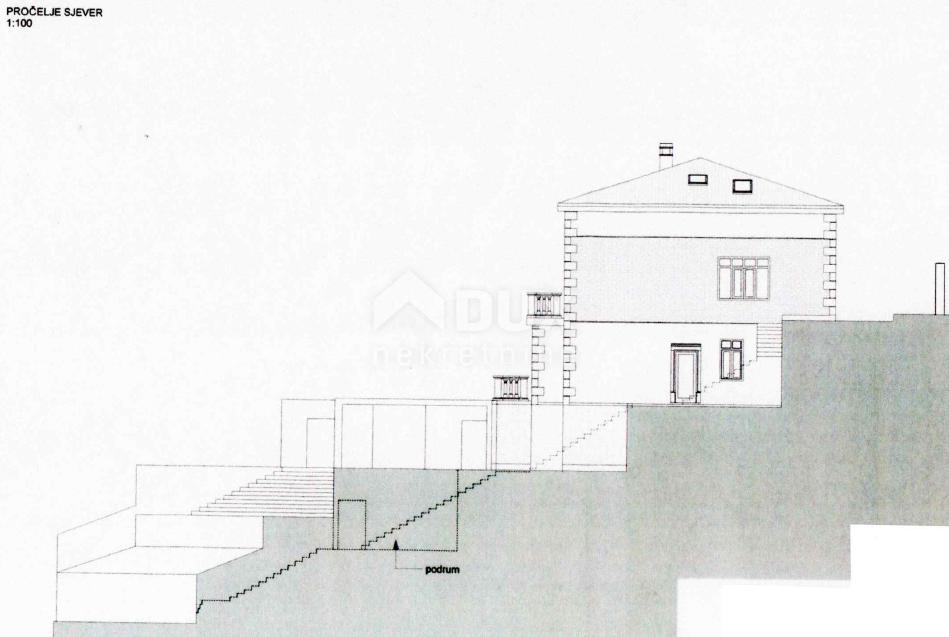 OPATIJA - stan 311m2 (u villi) sa bazenom prvi red do mora + pripadajuća okućnica 400m2