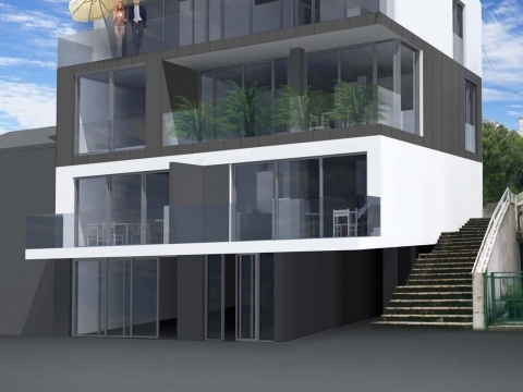 JADRANOVO - novogradnja 1. red do mora s liftom i garažom - EKSKLUZIVNO - samo u našoj ponudi!