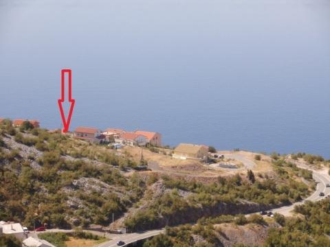 SENJ- građevinsko zemljište udaljeno samo 130m od mora, otvoren pogled