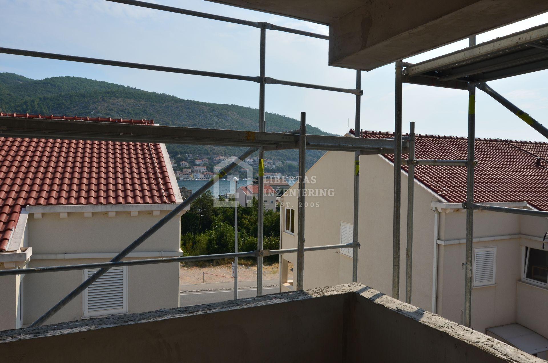 Dubrovnik, prostrani roh bau stan / NOVOGRADNJA