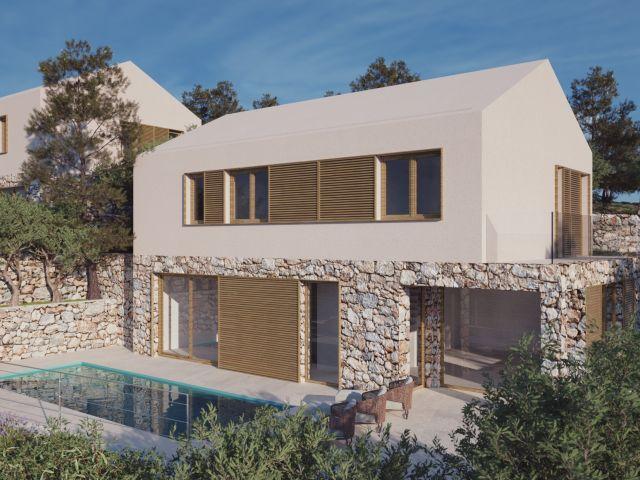 Dubrovnik okolica, zemljište s projektom za 4 vile / POSLOVNA INVESTICIJA