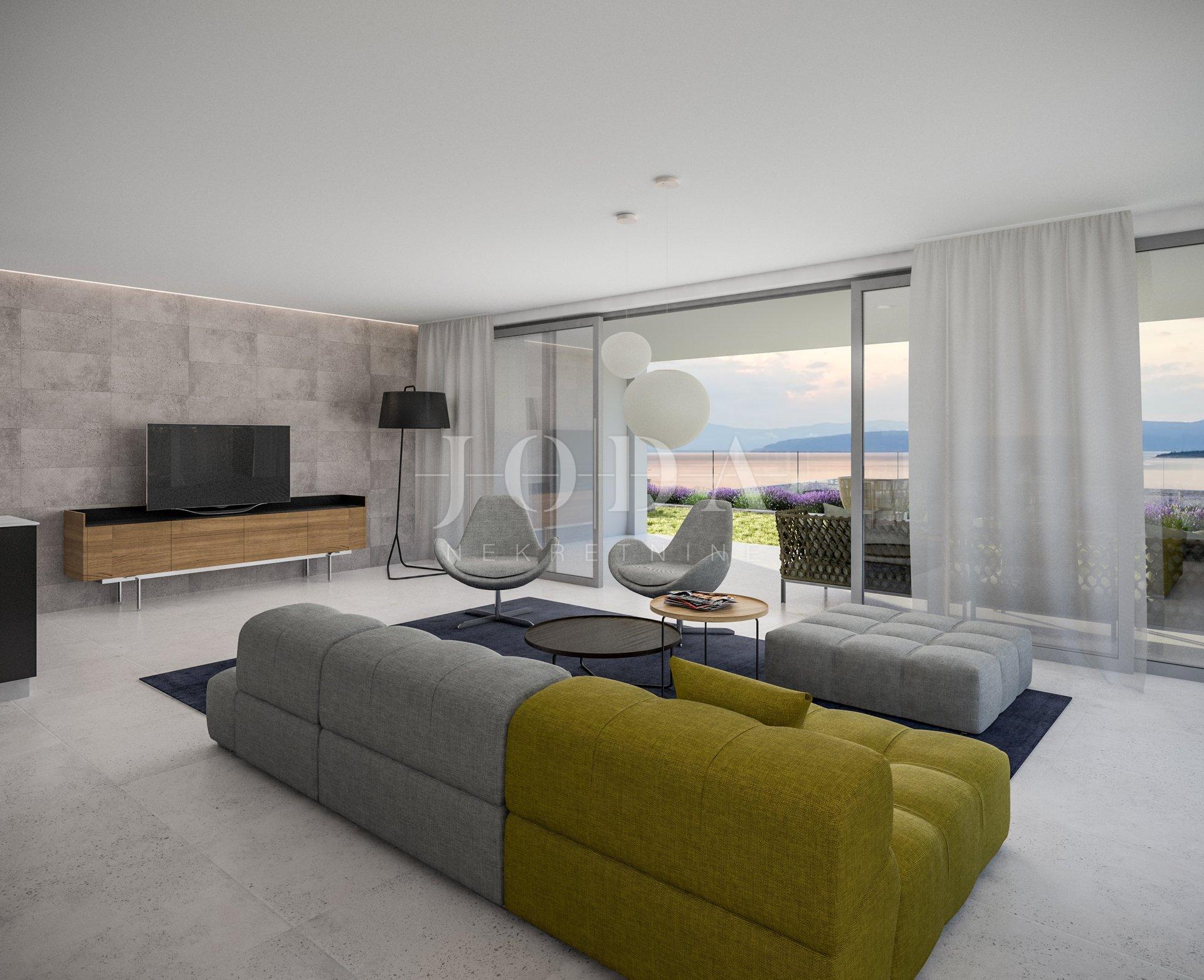 Malinska apartman 1.red do plaže