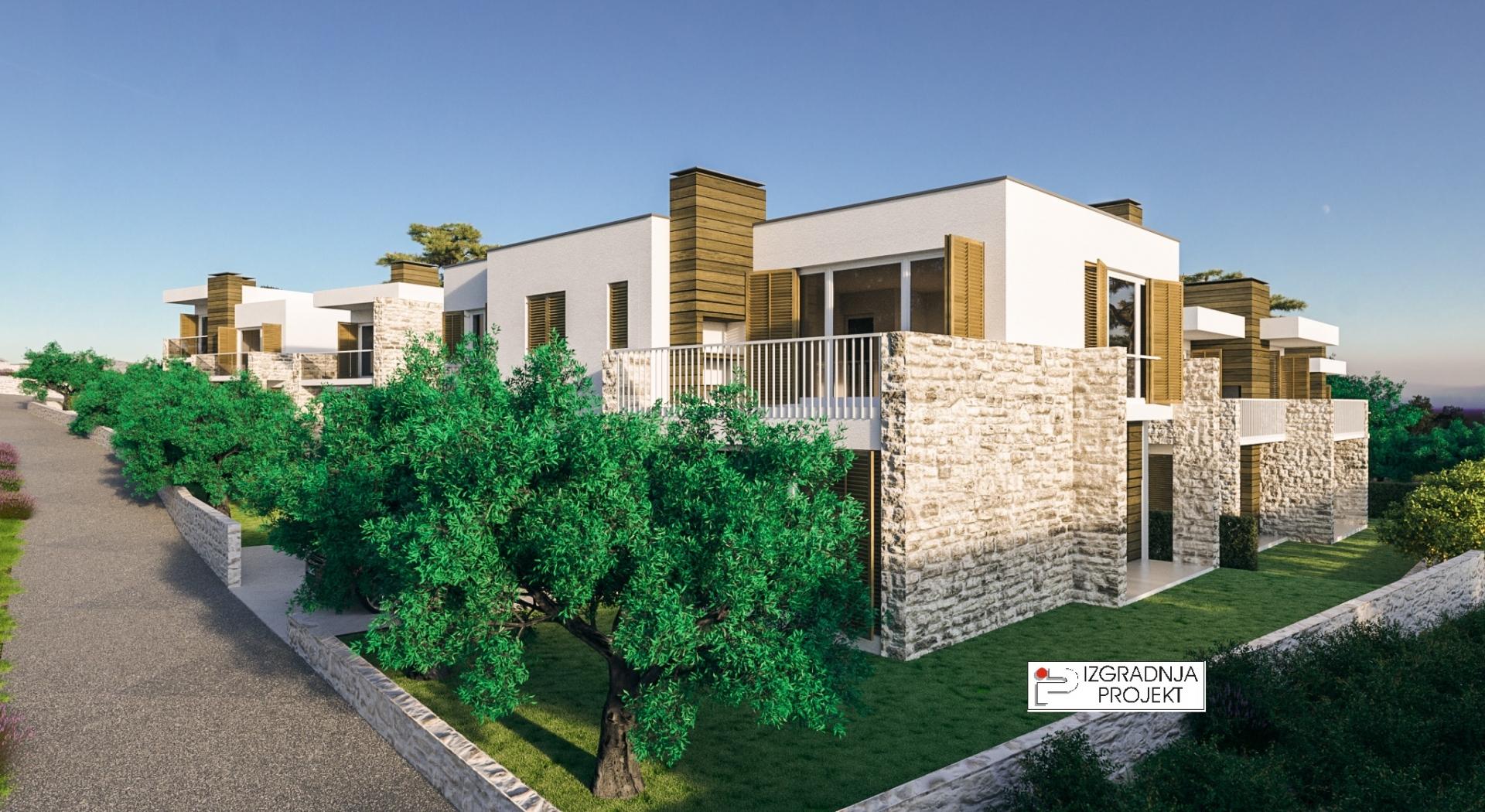 Zgrada s dva stana u novom kompleksu - Vodice