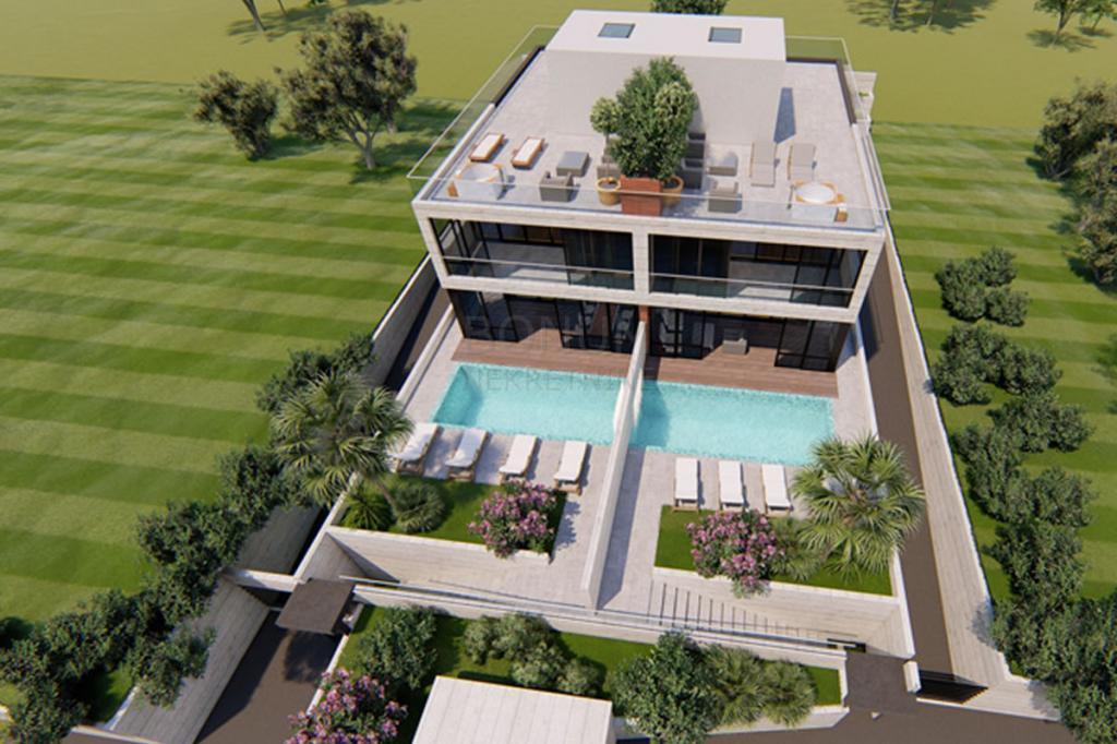 Luksuzna vila z bazenom in panoramskim pogledom na morje