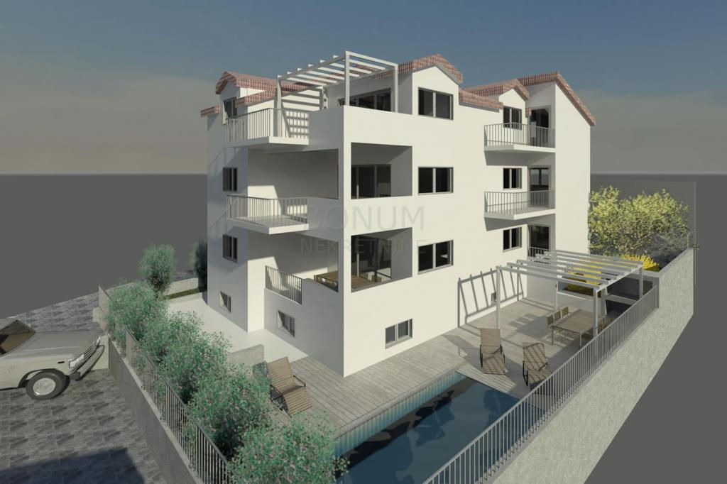 Haus im Bau, zweite Reihe zum Meer