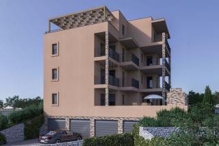 Primošten, novogradnja, novi apartma blizu plaže in s pogledom na več