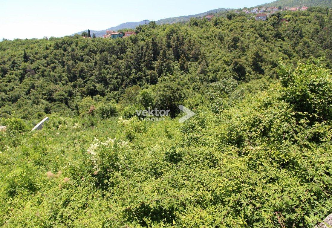 Građevinsko zemljište, Ičići, 1165m2, pogled na more
