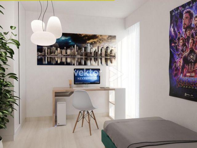 Labin, 1-soban s dnevnim boravkom, moderna zgrada