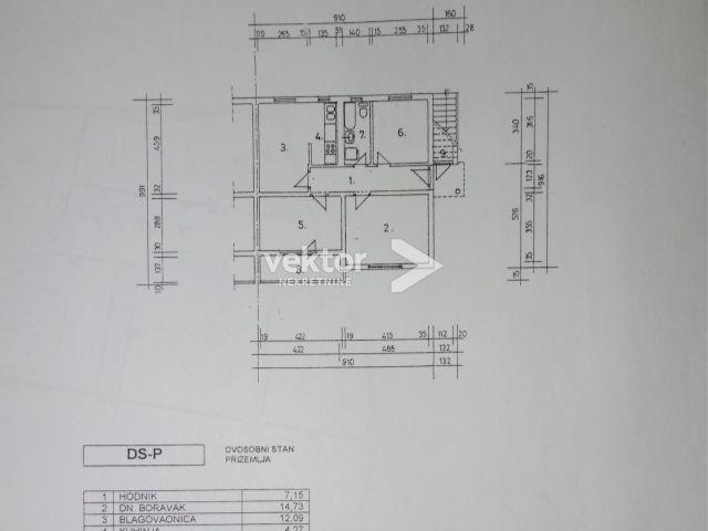 Etaža, Zamet, 70m2, 3-soban, garaža, okućnica